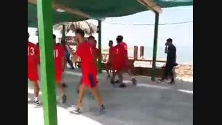 بازیکنان پرسپولیس امروز صبح به تمرین سبک در محوطه دهکده دریایی گردشگری پرداختند.