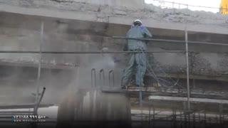 ترمیم پل بتنی با دستگاه واترجت صنعتی فشار قوی