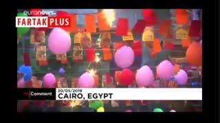 میز ۵۰ متری افطار ماه رمضان در قاهره