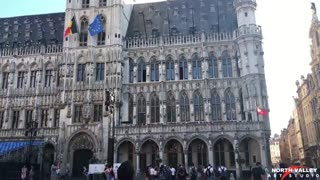 Old Town of Brussels in Belgium
