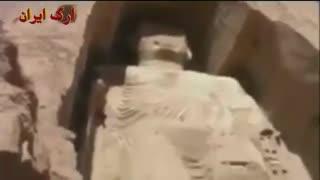 لحظه انفجار مجسمه بودا