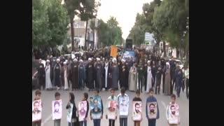 عزاداری ودسته روی شهادت حضرت علی علیه السلام رمضان1398