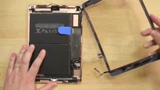 آموزش تعویض تاچ و ال سی دی و باتری آیپد iPad 6 - تعمیرات 118