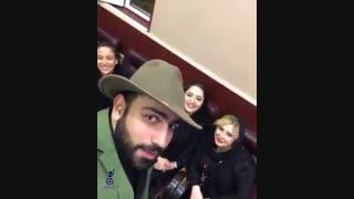 شوخی سامان گوران با نیوشا ضیغمی و نرگس محمدی